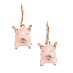 Kate Spade Imagination Pig Drop Earrings
